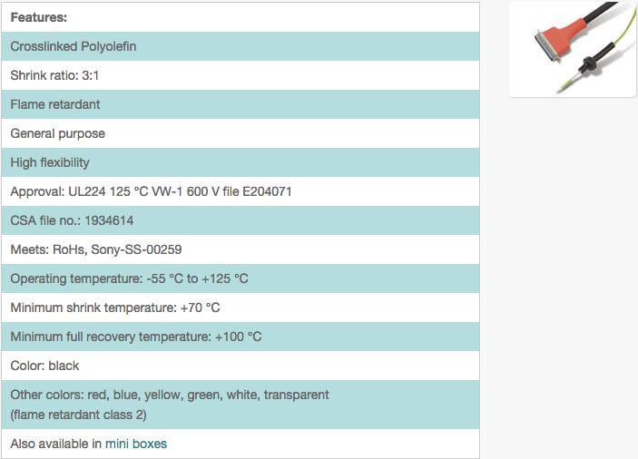 Flexible / flame retardant / 3:1 / H-2(3X)