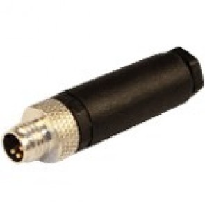 08MC3000-S-INOX - M8 connectors, screw contacts with stainless steel nut