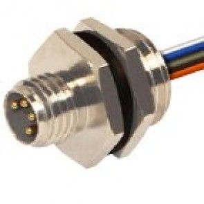 08MP4A0C-M12 - M8 connectors to panel mounting with M12 thread