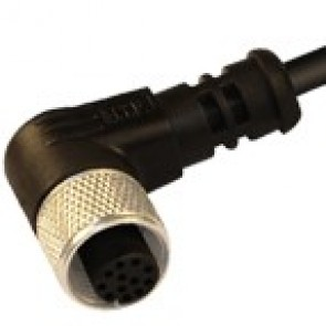 12FA12K1Z - M12 connectors, 90° with PVC moulded cable