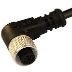 12FV5Q1Z - M12 connectors, 90° totally shielded