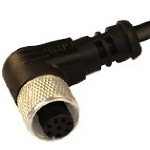 12FA8A1Z - M12 connectors, 90° with PVC moulded cable