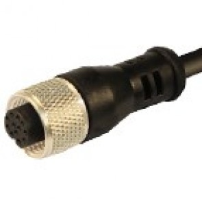 12FD12K1Z - M12 connectors, straight with PVC moulded cable