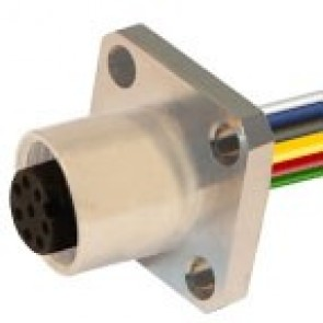 12FP8A0B-FL - Front mounting with wires and flanges