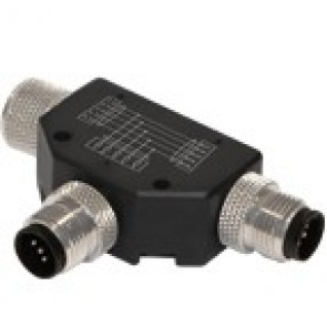 12TTJ35000-360 - M12 T connector, 360° totally shielded