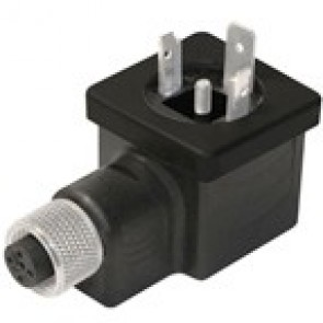 BG1N02000B-12FD - DIN/A Adapter male with M12 female 3 poles - h12 earth position