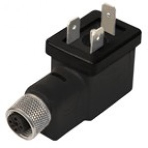 BM1N02000B-12FD - DIN/B Adapter male with M12 female 3 poles - h12 earth position