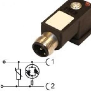 P2N02VL1C-12MD - Bipolar Led+varistor 24V with M12 cable entry