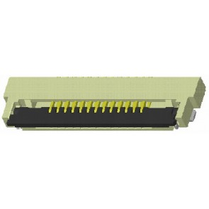 """CF55 Series 0.50mm(.020"""")H=1.25 SMT ZIF ONE-TOUCH FFC/FPC Connectors (Halogen Free)"""