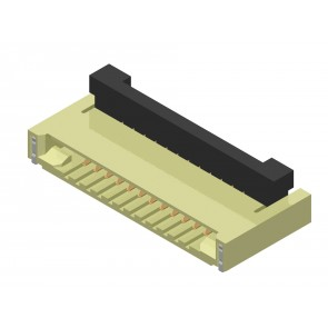 CF41 Series 0.50mm(.020) SMT Right angle FFC/FPC Connectors(Back Flip)