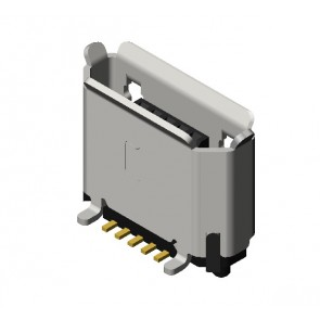 CU09 Series Micro USB 5 Circuits Type-B Straight SMT Board Mount Connectors