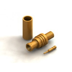 CR03 Series  MCX Straight Cable Crimp Type Plug Conn.