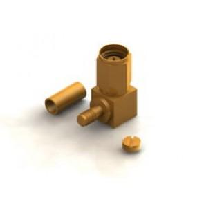 CR01 Series  SMA Right Angle Cable Crimp Type Plug Conn.