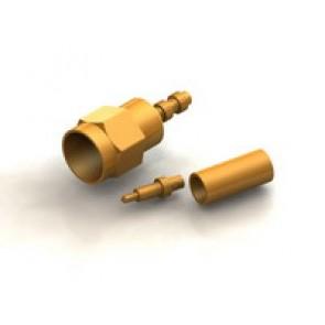 CR01 Series  SMA Straight Cable Crimp Type Plug Conn.