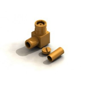 CR02 Series  SMB Right angle Cable Crimp Type Plug Conn.
