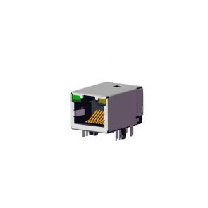 CJCL SERIES 10/100 Base-Transformer RJ45 Connector