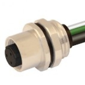 C-12FP3030B-PG9 - M12 connectors, Front mounting with wires (PG9)