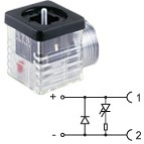 G2TF2DL1 - 1/2NPTF - Led+diode 24V