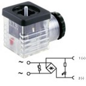 G2TU2RL2 - PG9/PG11 Bridge rectifier + led + varistor 115V