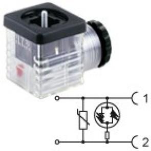 G2TU2VL3 - PG9/PG11 - Bipolar led+varistor 230V