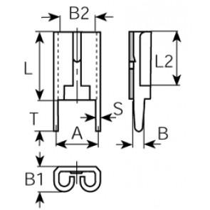Receptacles brass tinplat 3826f05.68