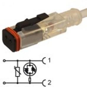 HDCFD2VL3841Z - Bipolar led+varistor 230V