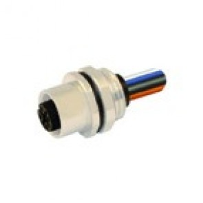 S-12FP4730B-PG9 - M12 connectors, Front mounting with wires (PG9)